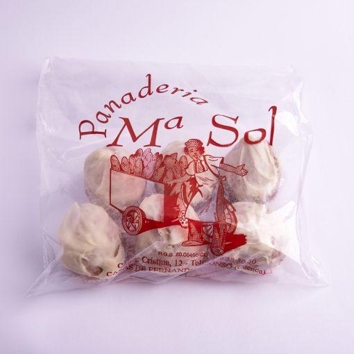 Bolsa de magdalenas de chocolate blanco tamaño pequeño