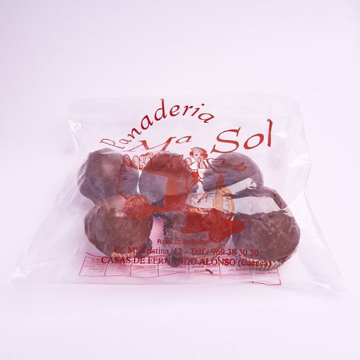 Bolsa de magdalenas pequeñas de chocolate