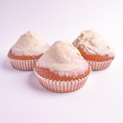 Magdalenas de chocolate blanco tamaño grande