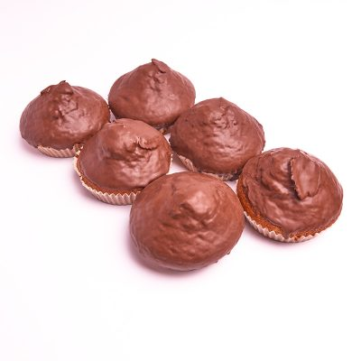 Magdalenas con chocolate tamaño grande
